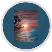 Breakers Round Beach Towel