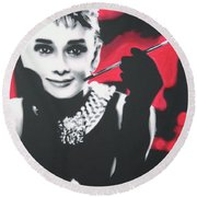 Breakfast At Tiffany's Round Beach Towel