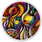 Breakfast Round Beach Towel