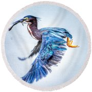 Round Beach Towel featuring the photograph Breakfast by Sumoflam Photography