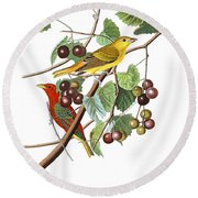 Round Beach Towel featuring the photograph Breakfast Time by Munir Alawi