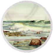 Breaking Seas Round Beach Towel