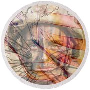 Breaking The Glass Ceiling Round Beach Towel