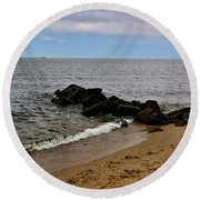 Breakwaters Round Beach Towel
