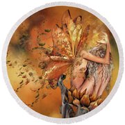 Breath Of Autumn Round Beach Towel