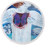 Breathe Deep Round Beach Towel by Lisa Brandel