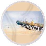 Breathe In Round Beach Towel