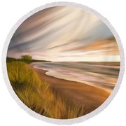 Round Beach Towel featuring the digital art Breathtaking Beach by Anthony Fishburne