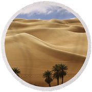 Breathtaking Sand Dunes Round Beach Towel