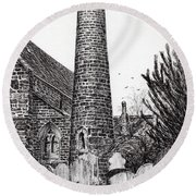 Brechin Round Tower Round Beach Towel
