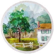 Brecknock Park Round Beach Towel by Larry Hamilton