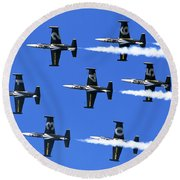 Breitling Air Display Team L-39 Albatross Round Beach Towel