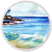 Brennecke's Beach Round Beach Towel