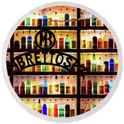 Brettos Bar In Athens, Greece - The Oldest Distillery In Athens Round Beach Towel