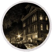Round Beach Towel featuring the photograph Market Street by Robert Geary