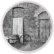 Brewhouse Door Round Beach Towel