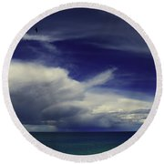 Round Beach Towel featuring the photograph Brewing Up A Storm by Nareeta Martin