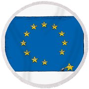Brexit Eu Flag  Round Beach Towel