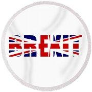 Brexit Round Beach Towel