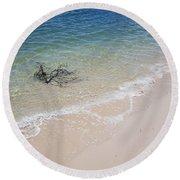 Bribie Branches 2 Round Beach Towel