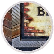 Round Beach Towel featuring the photograph Brick Bar by Nikolyn McDonald