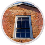 Brick House Window Round Beach Towel