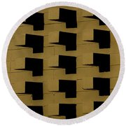 Bricks Round Beach Towel