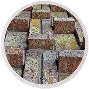 Bricks No. 38-1 Round Beach Towel by Sandy Taylor