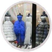 Bridal Fashion Of St. Petersburg Round Beach Towel