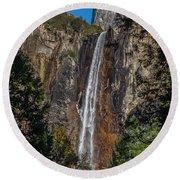 Bridal Veil Falls - My Original View Round Beach Towel