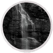 Round Beach Towel featuring the photograph Bridal Veil Falls by Raymond Salani III