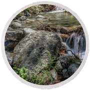 Bridalveil Creek Round Beach Towel