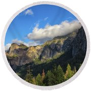 Bridalveil Fall Round Beach Towel