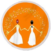 Brides Round Beach Towel