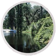 Bridge Across A Swamp, Magnolia Round Beach Towel