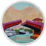 Bridge At Se 3rd Round Beach Towel
