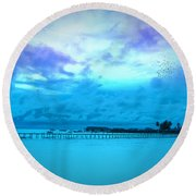 Bridge Round Beach Towel by Charuhas Images