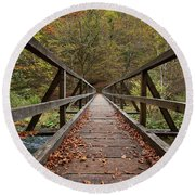 Round Beach Towel featuring the photograph Bridge by Davor Zerjav