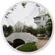 Bridge In Alys Beach Round Beach Towel by Megan Cohen