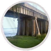 Bridge In Leesylvania Park Va Round Beach Towel