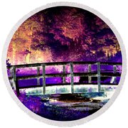 Bridge Of Dreams Round Beach Towel