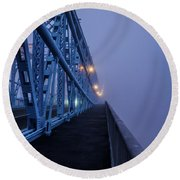 Bridge Of Fog Round Beach Towel