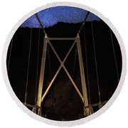 Round Beach Towel featuring the photograph Bridge Of Stars by Cat Connor
