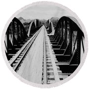 Bridge On The River Kwai Round Beach Towel
