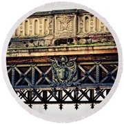 Bridge Ornaments In Germany Round Beach Towel