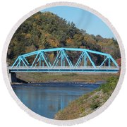 Bridge Over Rondout Creek 2 Round Beach Towel