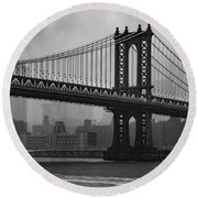 Bridge Over Troubled Water Round Beach Towel
