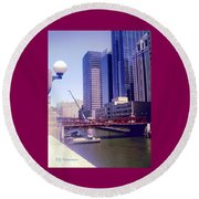 Bridge Overview Round Beach Towel
