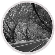 Bridge Road West II Round Beach Towel by Larry Nieland