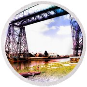 Bridge Round Beach Towel by Silvia Bruno